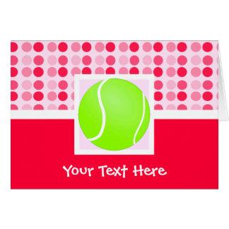 Pelota de tenis linda tarjeta de felicitación