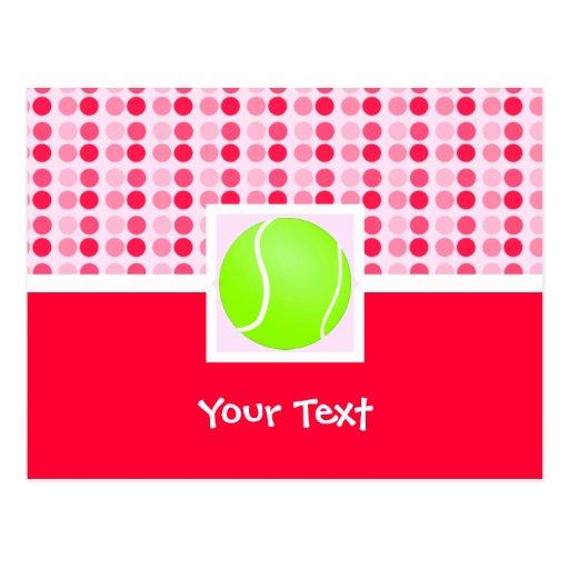 Pelota de tenis linda tarjeta postal