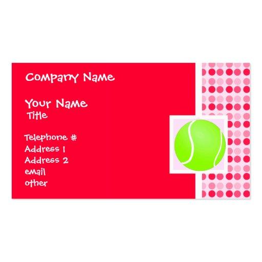 Pelota de tenis linda tarjetas de visita