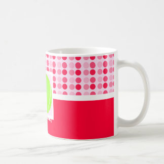 Pelota de tenis linda taza de café