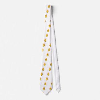Pelota de tenis llameante corbata personalizada