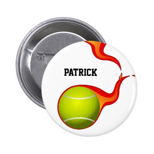 pelota de tenis llameante pin