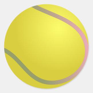 Pelota de tenis etiqueta redonda