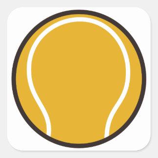 Pelota de tenis pegatina cuadrada