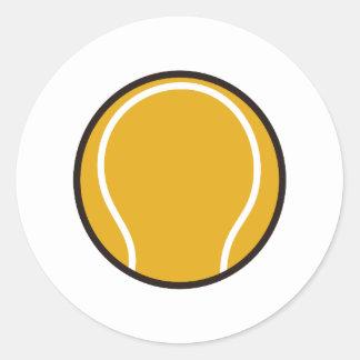 Pelota de tenis pegatina redonda