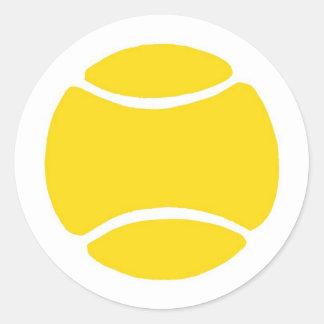 Pelota de tenis etiquetas redondas