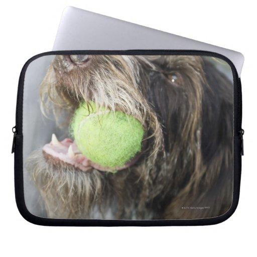 Pelota de tenis penetrante del perro del indicador manga portátil