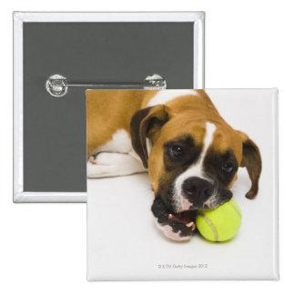Pelota de tenis penetrante del perro pin cuadrado