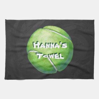 Pelota de tenis personal del mascota toalla de mano