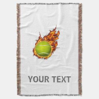 Pelota de tenis personalizada en el regalo del manta