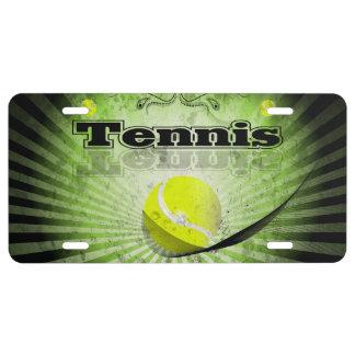 Pelota de tenis placa de matrícula