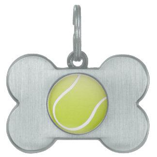 pelota de tenis placa de mascota