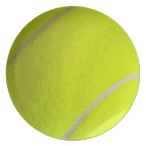 Pelota de tenis platos para fiestas