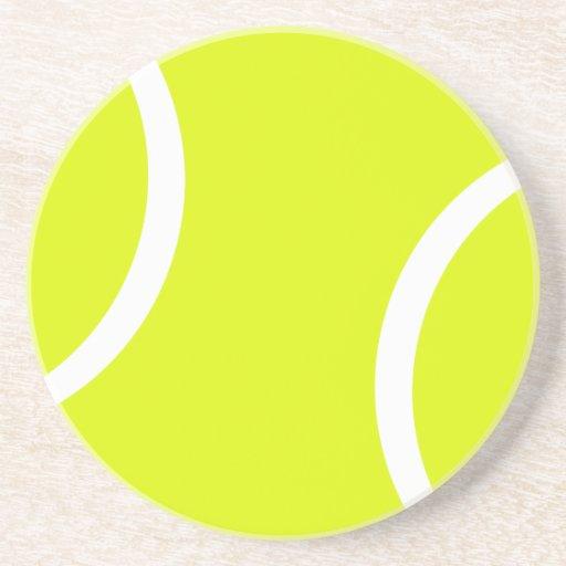 Pelota de tenis posavaso para bebida
