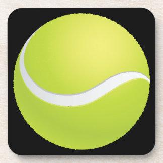 Pelota de tenis posavasos de bebida