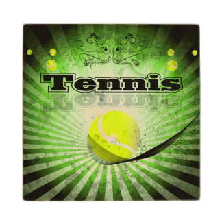 Pelota de tenis posavasos de madera