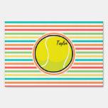 Pelota de tenis; Rayas brillantes del arco iris