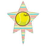 Pelota de tenis; Rayas brillantes del arco iris Decoraciones Para Tartas