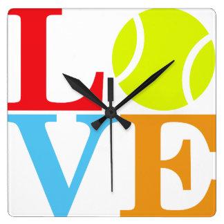 Pelota de tenis reloj cuadrado