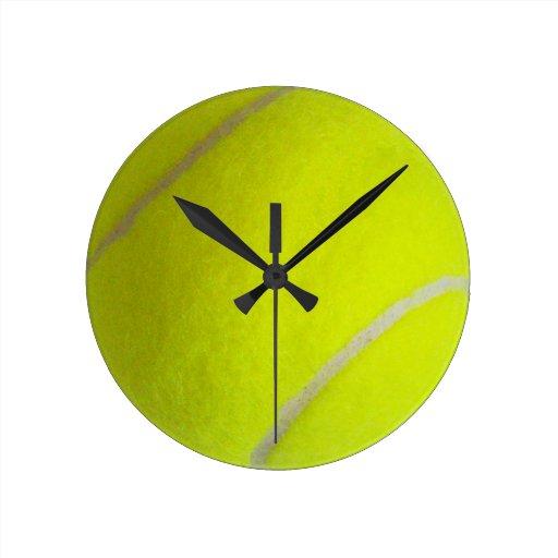 Pelota de tenis reloj de pared