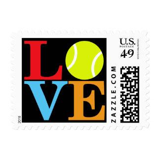 Pelota de tenis sellos postales