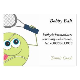Pelota de tenis tarjetas de visita grandes