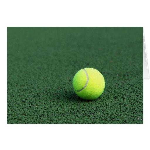 Pelota de tenis tarjeta de felicitación