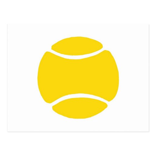 Pelota de tenis postales