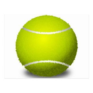 Pelota de tenis tarjeta postal