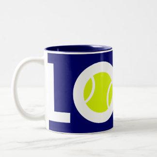 Pelota de tenis taza de café
