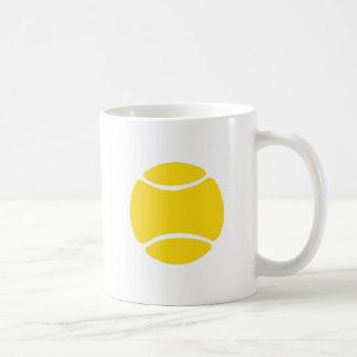 Pelota de tenis taza básica blanca