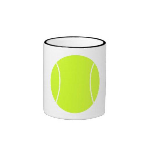 Pelota de tenis tazas