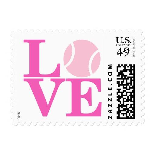 Pelota de tenis timbre postal