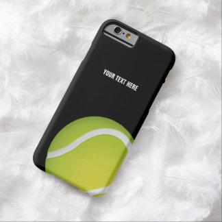 Pelota de tenis verde personalizada funda para iPhone 6 barely there