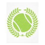 Pelota de tenis y diseño del vintage del equipo de membrete personalizado