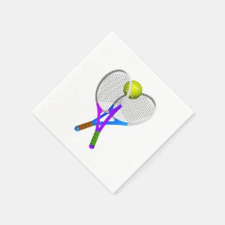 Pelota de tenis y estafas servilletas desechables