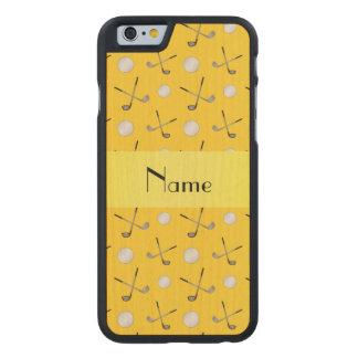Pelotas de golf amarillas conocidas personalizadas funda de iPhone 6 carved® de arce