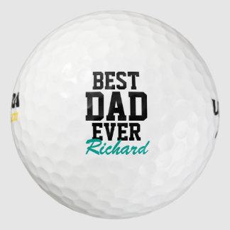 Pelotas de golf cones monograma del día de padre pack de pelotas de golf