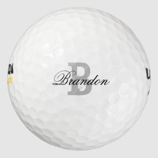 Pelotas de golf conocidas de encargo del monograma pack de pelotas de golf
