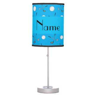 Pelotas de golf conocidas personalizadas del azul  lámpara de escritorio