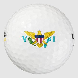 "Pelotas de golf de Wilson® de las ""Islas Vírgenes"" Pack De Pelotas De Golf"
