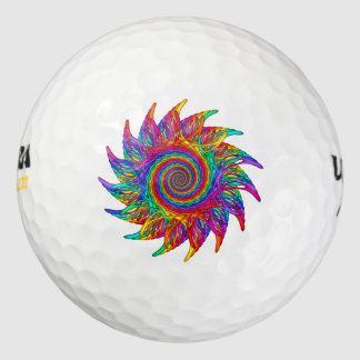 Pelotas de golf del adorno del arco iris de pack de pelotas de golf