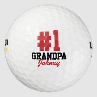 Pelotas de golf del día de padre del abuelo del pack de pelotas de golf