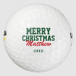 Pelotas de golf del monograma de las Felices Pack De Pelotas De Golf