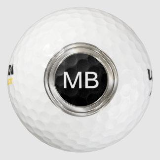 Pelotas de golf del monograma de los hombres