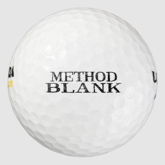 Pelotas de golf en blanco del método pack de pelotas de golf