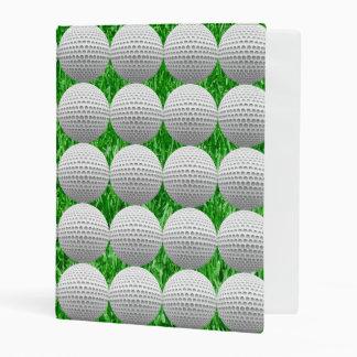 Pelotas de golf en césped mini carpeta