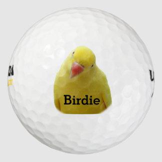 Pelotas de golf frustradas del chirrido