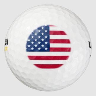 Pelotas de golf patrióticas pack de pelotas de golf