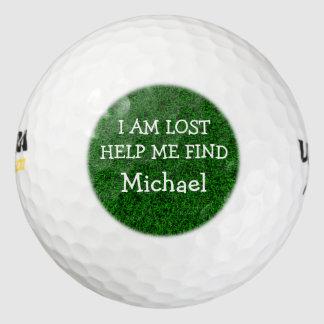Pelotas de golf perdidas de los hombres divertidos pack de pelotas de golf